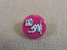 2pcs, Boutons chien, boutons dalmatien, boutons rose 18mm, boutons à anneaux, boutons UnionKnopf, boutons enfants, boutons layette de la boutique ArtKen6L sur Etsy