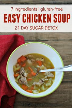 What to do with leftover Thanksgiving Turkey? Try this easy chicken soup recipe adapted from 21 Day Sugar Detox.