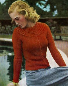 The Vintage Pattern Files: 1940's Knitting - Stitchcraft January 1947