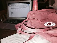 Working on it Kanken Backpack, Sling Backpack, Aesthetic Backpack, Material Girls, Chill, Bucket, Backpacks, Outfit, Pink