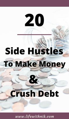 Are you looking to earn extra money and get out of debt. Here are 20 easy ways to earn extra money. Start your side hustle today. #budgeting #getoutofdebt #sidehustle #extramoney #debt Make Money Blogging, Money Saving Tips, Way To Make Money, Earn Extra Cash, Extra Money, Making A Budget, Making Ideas, Bill Pay Organizer, Money Problems