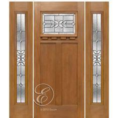 FF621CD-1-2 & Escon Doors FF621GR Douglas Fir Grain Fiberglass Craftsman Style ...