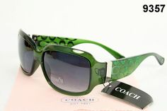 Green Coach Sunglasses