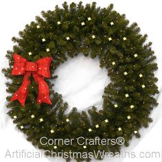 5 Foot C6 L.E.D. Prelit Christmas Wreath | Wreaths, Large christmas ...