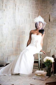 Wedding Veil with Swarovski Crystals, Tulle Veil, French Veil, Bubble Veil -- Laurie's Veil
