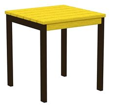 18 Recycled EarthFriendly Square Side Table  Lemon Yellow with Bronze Frame -- Learn more by visiting the image link.