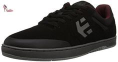 Etnies Marana Black Grey Red Suede Mens Skate Trainers Shoes Boots-9 - Chaussures etnies (*Partner-Link)