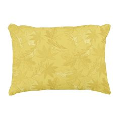 "Yellow Leaves Cotton Accent Pillow 16"" x 12"" #pillow #accentpillow #throwpillow #homedecor #interiordesign #fashion #style #trend #homedecorating #interiordecorating #roommakeover #yellow #leaf #leaves #nature #fall"