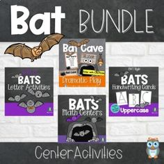 Bats center activities bundle is a perfect addition to an all about bats study, Halloween theme or October activities. Keep your center activities playful and engaging using these simple to prepare center materials for your preschool, pre-k, and kindergarten learners. With these bat themed printables and a few other manipulatives your young learners will have hours of fun learning and exploring. Halloween Theme Preschool, Preschool Classroom, Preschool Crafts, Halloween Themes, Kindergarten, Dramatic Play Themes, Dramatic Play Centers, Spring Theme, Autumn Theme
