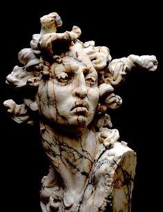 Medusa sculpture by Javier Marin