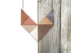 Geometric Leather Necklace statement leather necklace von NasuKka, $45,50