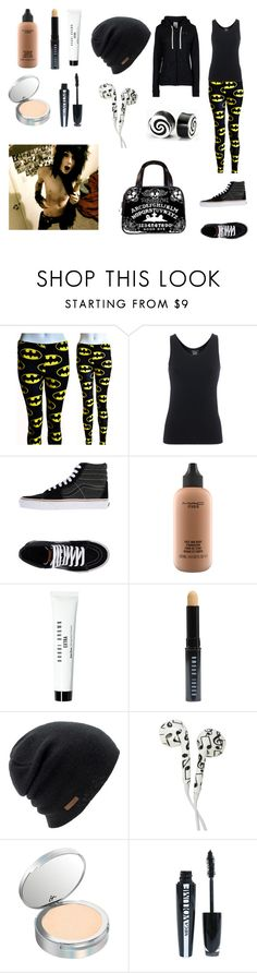"""""""Lazy day with Andy Biersack"""" by dannytuf ❤ liked on Polyvore featuring Majestic Filatures, Vans, MAC Cosmetics, Bobbi Brown Cosmetics, Coal, It Cosmetics, INC International Concepts, L'Oréal Paris and Under Armour"""