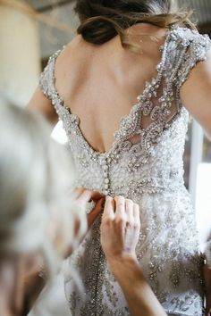 Go All Out with Glamorous Head to Toe Embellishment - Anna Campbell Wedding Dress