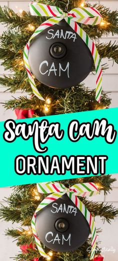 This DIY Santa Cam Ornament is the perfect way to remind kids that Santa is watching to decide who is naughty and who is nice. It takes just 4 supplies to make and is the perfect addition to any Christmas tree. #santacam #ornament Christmas Crafts To Make, Christmas Ribbon, Simple Christmas, Christmas Bulbs, Easy Arts And Crafts, Simple Crafts, Santa Cam Ornament, Chalkboard Markers, How To Find Out