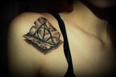 """The best tattoo of """"Deathly Hallows"""" symbol I have seen."""