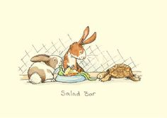 sharing with a friend … Rabbits and turtle Cute Animal Drawings, Cartoon Drawings, Cute Drawings, Bunny Art, Cute Bunny, Anita Jeram, Whimsical Art, Cute Illustration, Cute Art