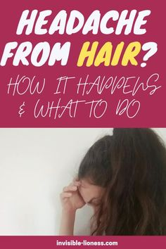 Unfortunately, long hair can be causing headaches - but it's not about the weight of your hair! Find out what the actual cause is, plus quick remedies for this problem! Growing Out Short Hair Styles, Grow Long Hair, Long Hair Styles, Vitamins For Hair Growth, Hair Vitamins, Healthy Hair Tips, Healthy Hair Growth, Diy Hair Care, Hair Care Tips