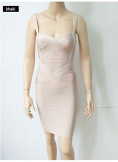 Women Dresses Rayon HL Elastic Celebrity Bandage Dress Bodycon Mini Club Party Dresses