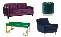 Jewel-toned furniture would make a great statement in any room. It's especially luxurious in a soft velvet #decor