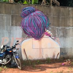 Graffiti girl street art hair style