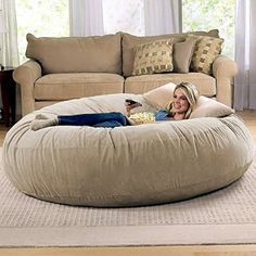 Amazon.com: Jaxx 6 Foot Cocoon - Large Bean Bag Chair for Adults, Camel: Kitchen & Dining