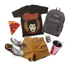 """Untitled #11"" by enswi on Polyvore featuring Levi's Made & Crafted, JanSport and Converse"