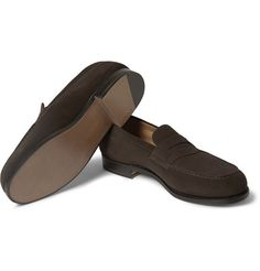 Weston 180 The Mocassin Suede Loafers Brown Suede Loafers, Penny Loafers, Loafers Men, Hot Shoes, Men's Shoes, Shoe Boots, Dress Shoes, Mens Designer Loafers, Jm Weston