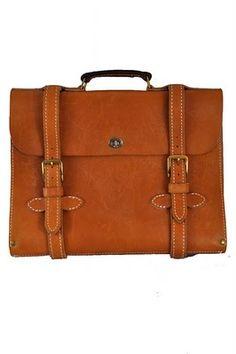 Briefcase, double bands. No shoulder strap.