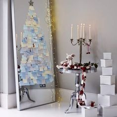Don't want a regular Christmas tree this year? Check out these 60 alternative Christmas tree ideas that are simple and festive. Creative Christmas Trees, Christmas On A Budget, Diy Christmas Tree, Little Christmas, Christmas Decorations, Christmas Post, Christmas Ideas, Homemade Christmas, Christmas Wishes