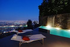 Private pool overlooking the Hollywood Hills