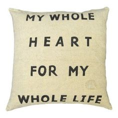 My Whole Heart Pillow - Linen