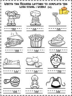 English worksheet: word /picture cards that contains ´ie