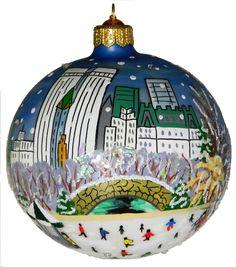 Central Park Blue Christmas Ornament #NY4Seasons