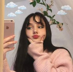 Excellent Cute makeup info are readily available on our site. Have a look and you wont be sorry you did. Aesthetic People, Aesthetic Girl, Aesthetic Clothes, Aesthetic Grunge, Cute Makeup, Makeup Looks, Soft Makeup, Hairstyles With Bangs, Girl Hairstyles