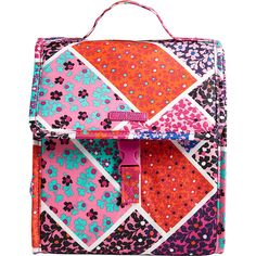 Vera Bradley Lunch Sack - Modern Medley - Lunch Bags ($27) ❤ liked on Polyvore featuring home, kitchen & dining, food storage containers, pink, pink lunch bag, vera bradley, vera bradley lunch sack and vera bradley lunch bag
