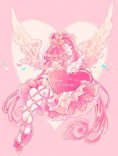 ˚。⋆A dream could also be a path. Cute Anime Chibi, Moe Anime, Kawaii Anime Girl, Anime Art Girl, Anime Manga, Arte Do Kawaii, Kawaii Art, Pretty Cure, Pink Hair Anime