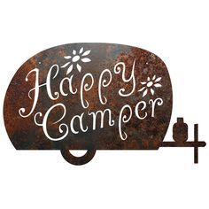 "Recherche Metal Camping ""Happy Camper"" Sign Wall Décor & Reviews 