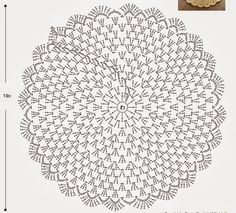 """doily pattern """"Needles and Brushes: Sousplat crochet"""", """"Crochet diagram only"""", """"Captured with Lightshot"""" Crochet Circles, Crochet Doily Patterns, Crochet Diagram, Crochet Round, Crochet Chart, Crochet Squares, Thread Crochet, Crochet Granny, Free Crochet"""