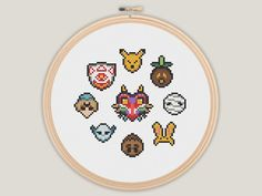 Hey, I found this really awesome Etsy listing at https://www.etsy.com/ca/listing/219955025/majoras-mask-zelda-cross-stitch-pattern