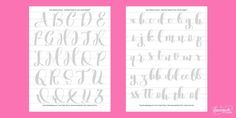 Free Brush Calligraphy Practice Worksheets | dawnnicoledesigns.com