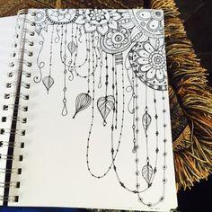 Nice Zenspirations(R) Dangle Design discovered in this Sketchbook : Quickie Floral Doodles - kitskorner
