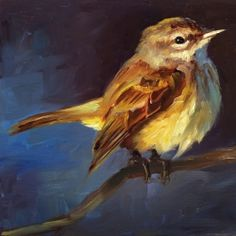 Palm Warbler - Bird Painting - Open Edition Print of Original Oil Painting - Art / Kunst - Paintings I Love, Animal Paintings, Original Paintings, Indian Paintings, Nature Paintings, Abstract Paintings, Bird Drawings, Watercolor Bird, Watercolor Landscape