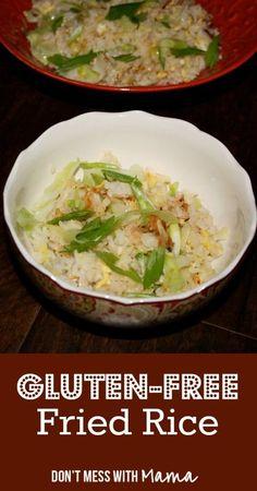 Gluten-Free, Soy-Free Fried Rice #glutenfree - DontMesswithMama.com #JamiesGlutenfreerecipes