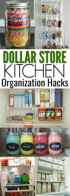 You will love these Dollar Store Kitchen Organization ideas! You will love these Dollar Store Kitchen Organization ideas! 21 Kitchen Organization hacks to get y Organisation Hacks, Organizing Hacks, Cleaning Hacks, Diy Hacks, Organising, Small Kitchen Organization, Pantry Organization, Kitchen Hacks, Kitchen Ideas