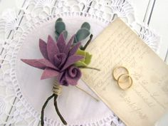 Each succulent is hand cut and assembled from a fine wool blend felt. Its a perfect choice for a rustic, casual ceremony, or a more elegant wedding.
