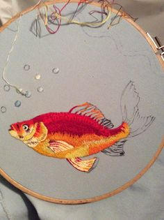 Pesce a punto pittura