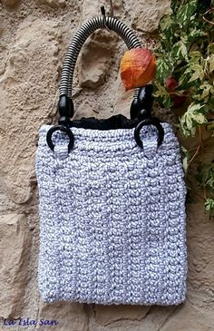 Tasche, Handtasche, Umhängetasche,gehäkelt     von La Isla San auf DaWanda.com