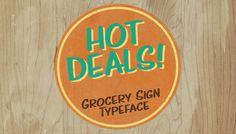 Hot Deals example 1    It is licensed under our Premium Font License which allows commercial use.
