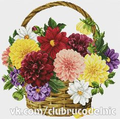 Buy 1 GET 1 FREE Flower cross stitch pattern PDF - Dahlias. Simple Cross Stitch, Cross Stitch Bird, Cross Stitch Flowers, Cross Stitching, Modern Cross Stitch Patterns, Cross Stitch Designs, Flower Patterns, Hand Embroidery, Wall Photos