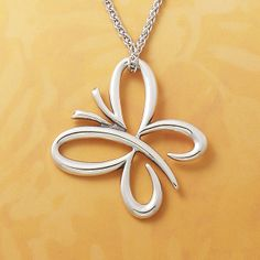 Floating Butterfly Pendant #jamesavery